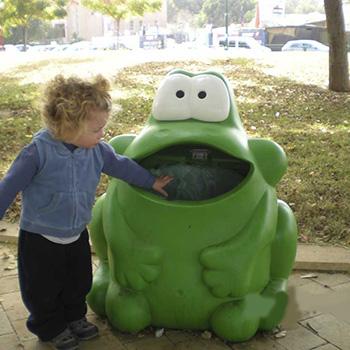 Детская безопасная урна Лягушка Froggo