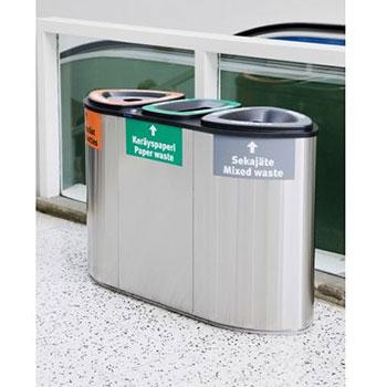 Урна для раздельного сбора мусора FinBin Bermuda Triple