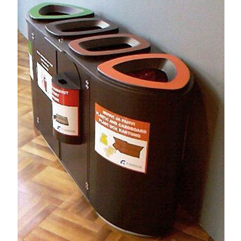 Урна для раздельного сбора мусора FinBin BERMUDA Quad