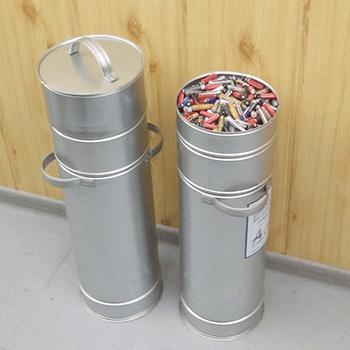 Оцинкованный контейнер для накопления и транспортирования батареек
