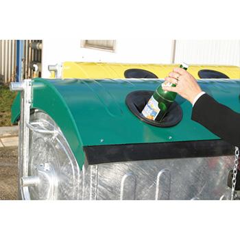 Оцинкованный евроконтейнер для раздельного сбора мусора 1100л. (пластик, жесть, стекло)