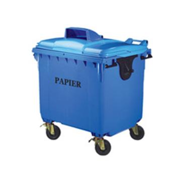 Пластиковый евроконтейнер для раздельного сбора мусора 1100л. (пластик, жесть, стекло)