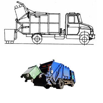Контейнер для мусоровозов с задней загрузкой
