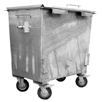 Оцинкованный контейнер под мусорокамеры 0,8 м.куб.