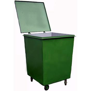 Металлический контейнер для ТБО квадратный 0,75м3