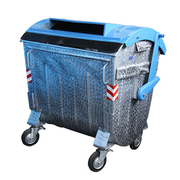 Оцинкованный евроконтейнер для раздельного сбора мусора 1100л. (бумага)
