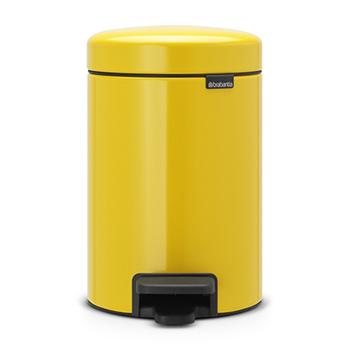 Мусорный бак с педалью для медицинских отходов NewIcon 3л. желтый