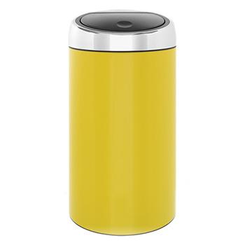 Мусорный бак металлический для медотходов Touch Bin 45л. желтый