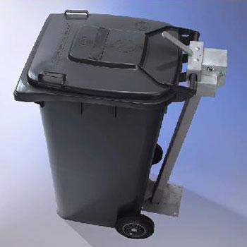 Крепление/фиксатор - стойка-замок (защита от воровства контейнера)