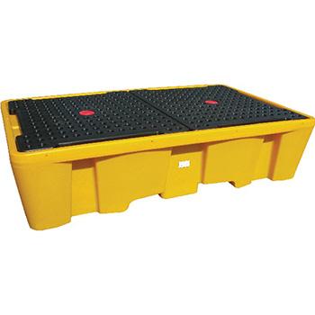 Поддон - контейнер, 1100 л, для 2х IBC кубов, опора, решетка
