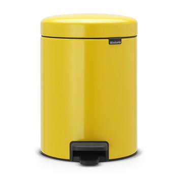 Мусорный бак с педалью для медицинских отходов NewIcon 5л. желтый