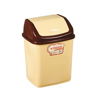Урна-контейнер с перекидным верхом, качели/маятник 1,5 л. желтый