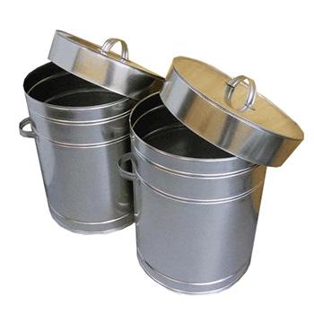 Оцинкованный бак-контейнер для сбора и хранения батареек и аккумуляторов