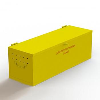 Ящик для сбора хранения ламп энергосберегающих люминесцентных ртутьсодержащих 400x1200x400