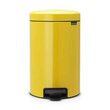 Мусорный бак с педалью для медицинских отходов NewIcon 12л. желтый
