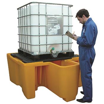 Поддон - контейнер для 1 IBC куба, c решеткой и диспенсером для ЛРТЖ