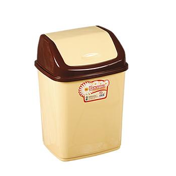 Урна-контейнер с перекидным верхом, качели/маятник 10 л. желтый