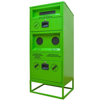 Контейнер для люминесцентных ламп, бытовых термометров, батареек, V8 600x400x1400