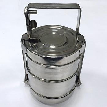 Герметичный контейнер для ртутьсодержащих термометров из нержавеющей стали 1,4л.