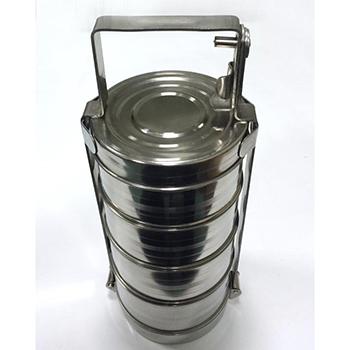 Герметичный контейнер для ртутьсодержащих термометров из нержавеющей стали 2,8л.