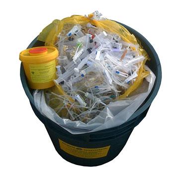 Полипропиленовый бак 45-50 л. для медотходов (Класс Г)