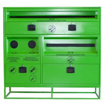 Контейнер для батареек (ХИТ), люминесцентных ламп линейных, компактных, V7 1450x400x1400