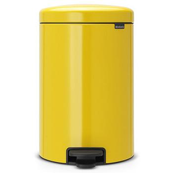 Мусорный бак с педалью для медицинских отходов NewIcon 20л. желтый