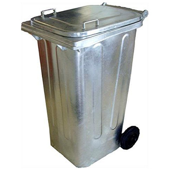 Оцинкованный евро контейнер для мусора 240л.