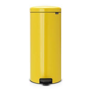 Мусорный бак с педалью для медицинских отходов NewIcon 30л. желтый