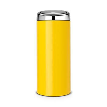 Мусорный бак металлический для медотходов Touch Bin 30л. желтый