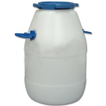 Пластиковый бидон пищевой с резьбовой крышкой 40л., ББП40п