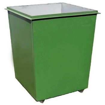 Металлический контейнер для мусора 0,75 м3 (без крышки, без колес)