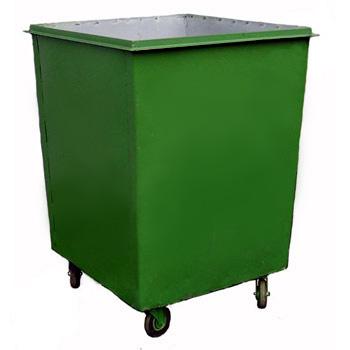 Металлический контейнер для мусора 0,75 м3 (без крышки, на колесах)