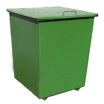 Металлический контейнер для мусора 0,75 м3 (с крышкой, без колес)