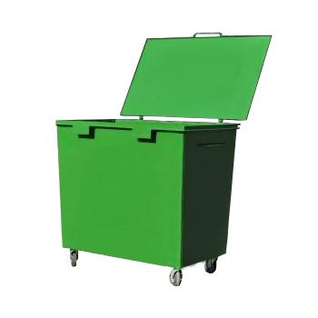 Металлический контейнер для мусора 0,8 м3 УСИЛЕННЫЙ (колеса 160 мм усиленные)