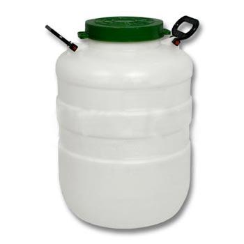 Пластиковый бидон пищевой с резьбовой крышкой 40л., ББП40