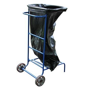 Тележка под мусорный мешок (колеса усиленные, подшипник) малое колесо