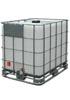 Б/у емкость кубическая MX-1000 с краном на поддоне черная/синяя (чистая)