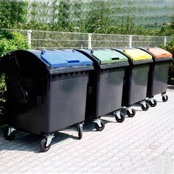 Евроконтейнер для раздельного сбора мусора 1100л. (цвета крышек)