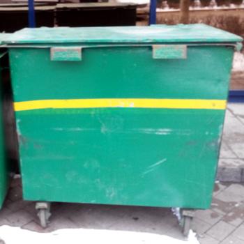 Б/У Металлический контейнер для мусора 0,8 м3 (стенки 2 мм)