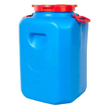 Пластиковый бидон с резьбовой крышкой емкостью 50л., ББП50и