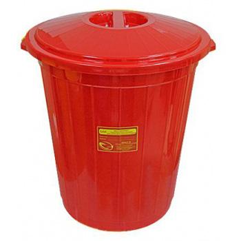 Многоразовый бак для мусора медицинских всех отходов (Класс А,Б,В,Г) с крышкой 50л.