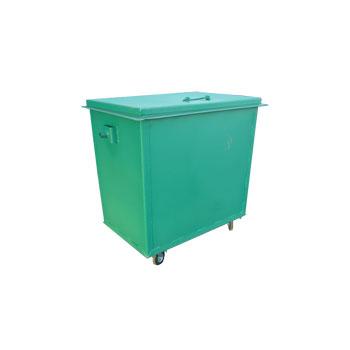 Металлический контейнер для мусора 0,8 куба с цапфами, еврозахватами