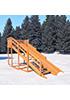 Деревянная зимняя горка скат (4 метра)