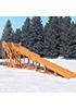Зимняя деревянная горка длинна ската 10 метров