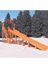 Зимняя деревянная горка скат 10 метров с крышей