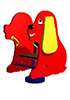 Качалка на пружине детская СКИ 028 Собачка