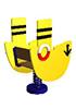 Качалка на пружине для детей СКИ 025 Пароходик