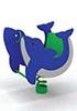 Качалка на пружине для детей СКИ 027 Рыбка