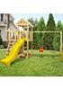 Детская деревянная площадка для дачи Большая Панда +  скалодром